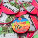 Bikin Pin Murah – Pin Gantungan Kunci Cermin 5,8cm Charming Clarity Creative di Surabaya