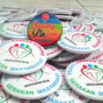 Bikin Pin Murah – Pin Peniti 5,8cm 110pcs Gerakan Masyarakat Peduli Kanker Serviks di Yogyakarta