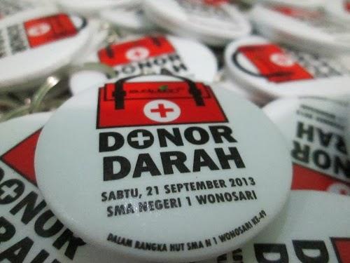 Jual Gantungan Kunci Murah Donor Darah SMA 1 Wonosari
